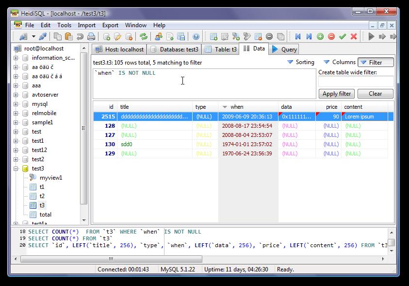 WatFile.com Download Free HeidiSQL — бесплатный MySQL front-end инструмент