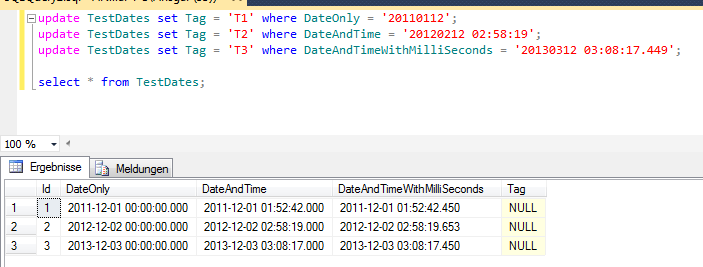 Can 39 t update datetime column in ms sql table for Sql table design query