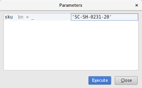 Statement parameters