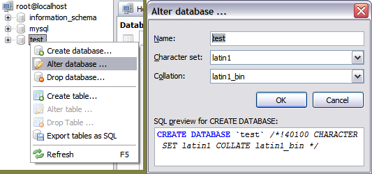 How to rename a database   ?